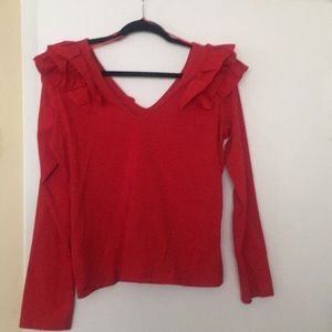 Cotton long sleeve with ruffles